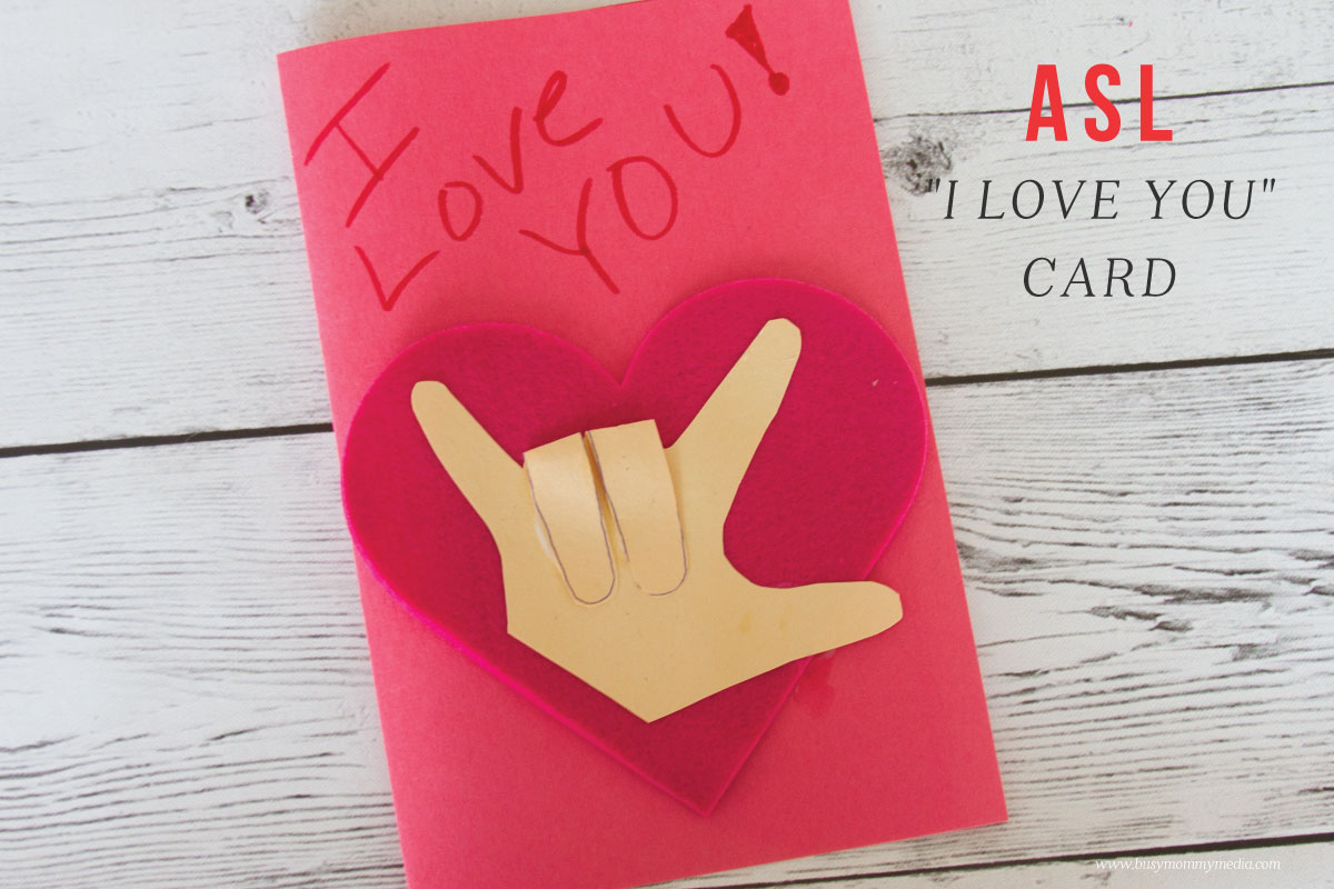 asl iloveyou craft  try this fun asl craft for