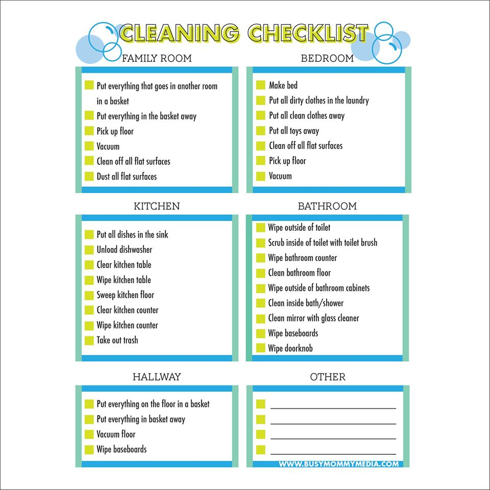 Kids Checklist Template from www.busymommymedia.com