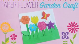 Summer Crafts for Kids - Paper Flower Garden